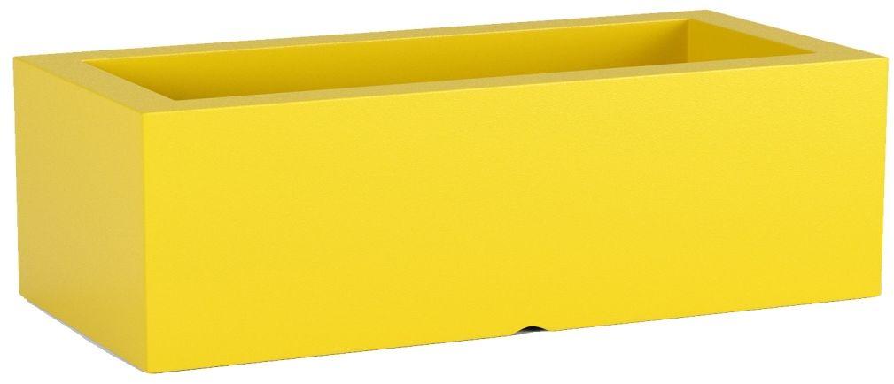 Donica z polietylenu OFFICE POT M żółty