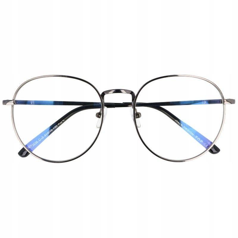 Okulary Lenonki z filtrem światła niebieskiego do komputera zerówki T7590B