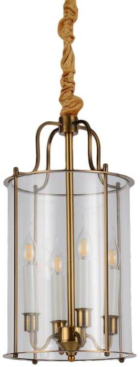 Lumina Deco Miconos loftowa mosiężna lampa wisząca