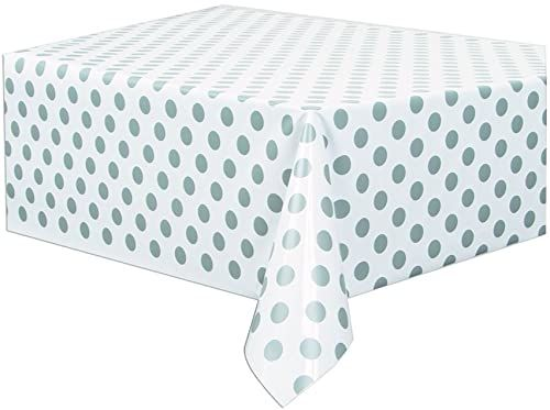Unique Party Supplies Party 37283 okładka stołowa, tworzywo sztuczne, srebrna
