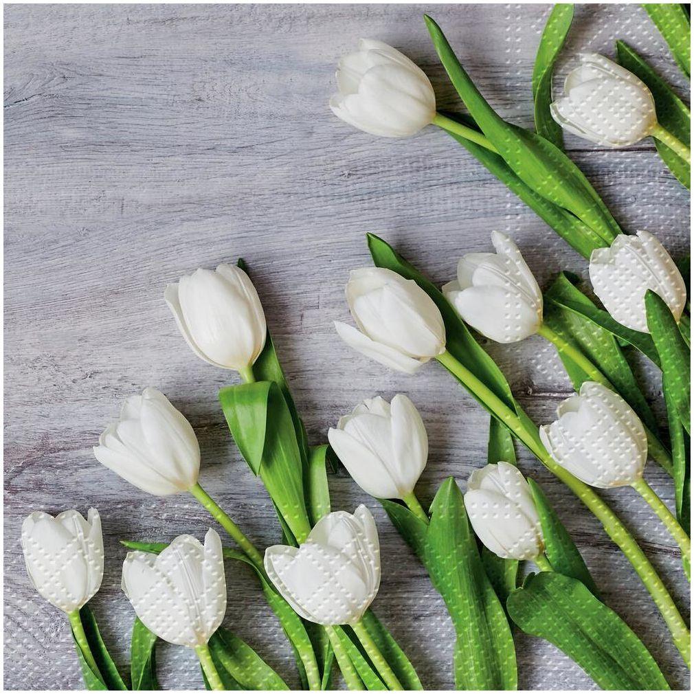 Serwetki White tulips 33 x 33 cm 20 szt.