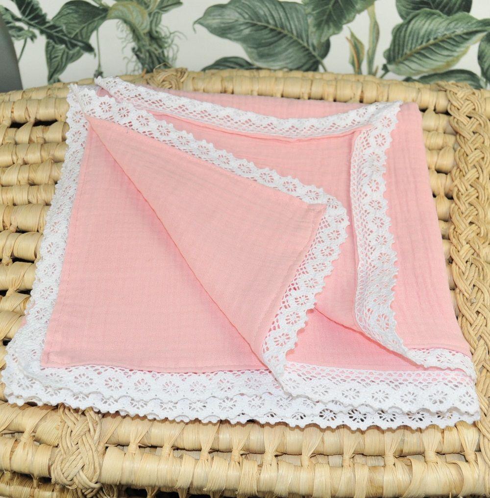 otulacz muślinowy 100x100cm rose blush