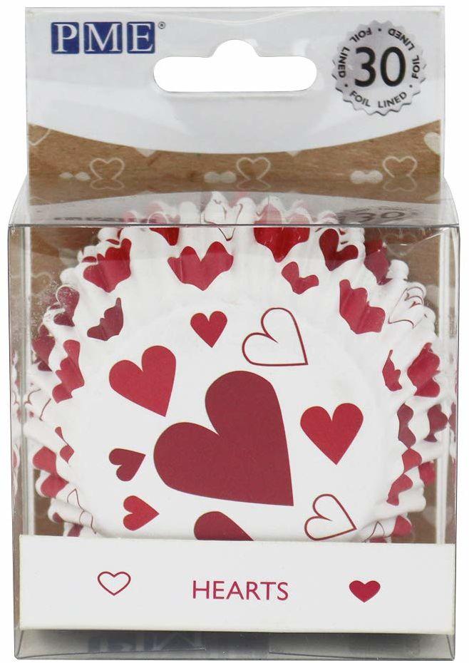 PME BC825 papierowe formy do pieczenia serca, powlekane folią