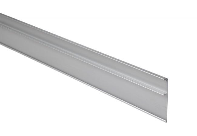 Maskownica szyny jezdnej systemu Hafele Slido Classic (ZE-HF-113), długość 3000 mm (wys.90 mm), do drzwi szklanych