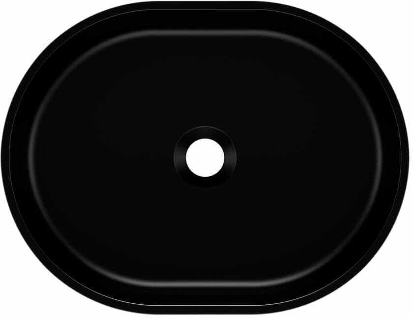 Umywalka nablatowa OLIB 48 Czarny