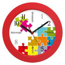 Zegar naścienny kolor puzzle