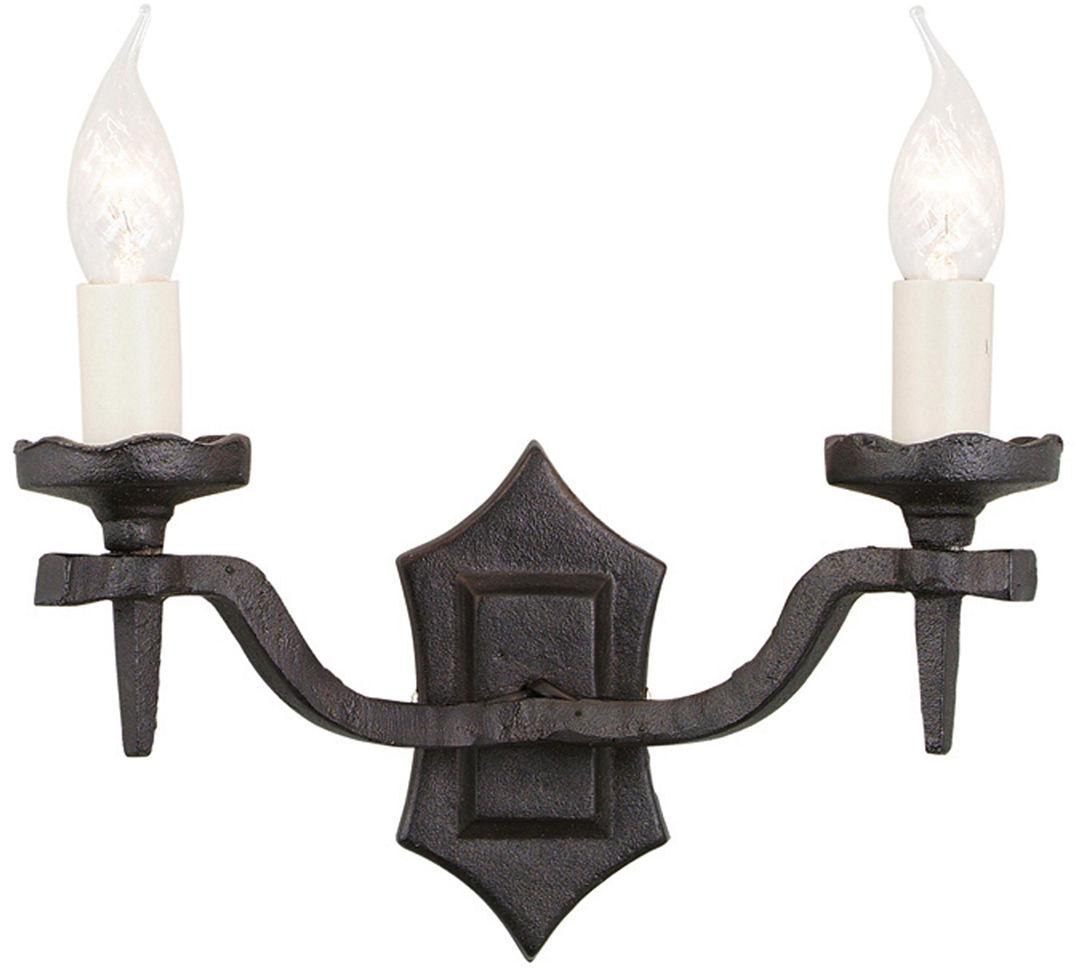 Kinkiet podwójny Rectory RY2B Elstead Lighting klasyczna oprawa w kolorze czarnym