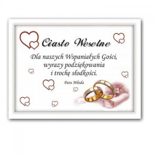 Etykieta na ciasto weselne, podziękowanie dla gości Serduszka, 25 szt.