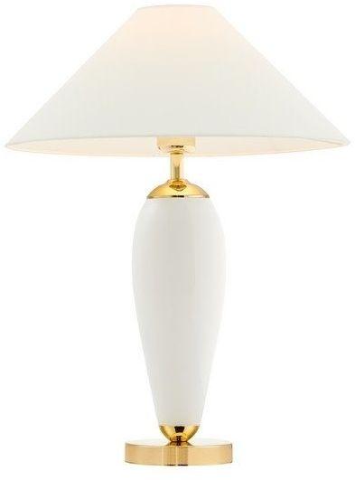 Kaspa - lampa stojąca rea - biała - abażur biały