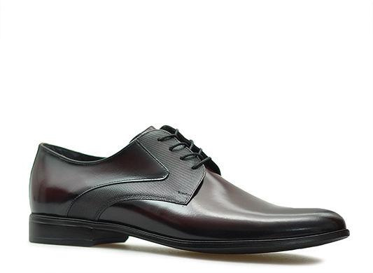Pantofle Pan 1332 Bordowe lico