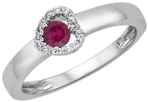 Złoty pierścionek - Diament Rubin