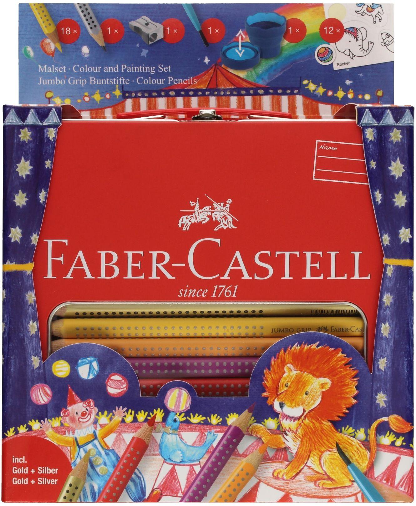 Zestaw do malowania-rysowania Jumbo Grip walizka Circus faber Castell 201352FC