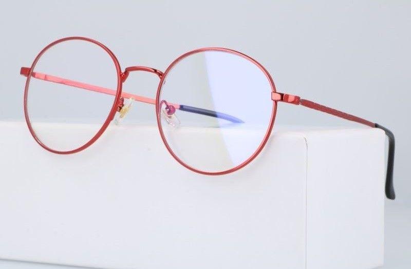 Okulary Lenonki z filtrem światła niebieskiego do komputera zerówki 2531-4