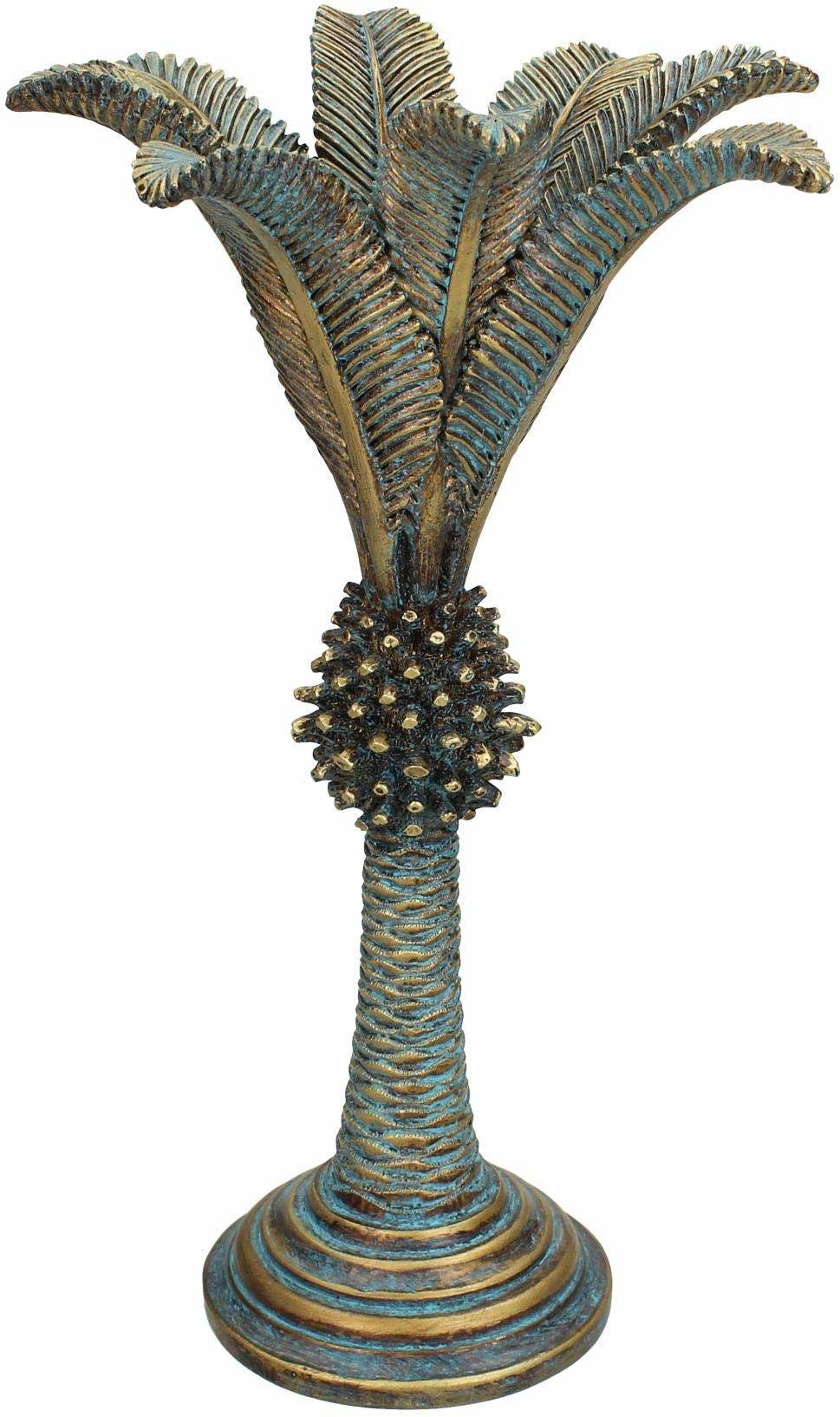 Świecznik Palm Tree - żywica poliestrowa - złoty