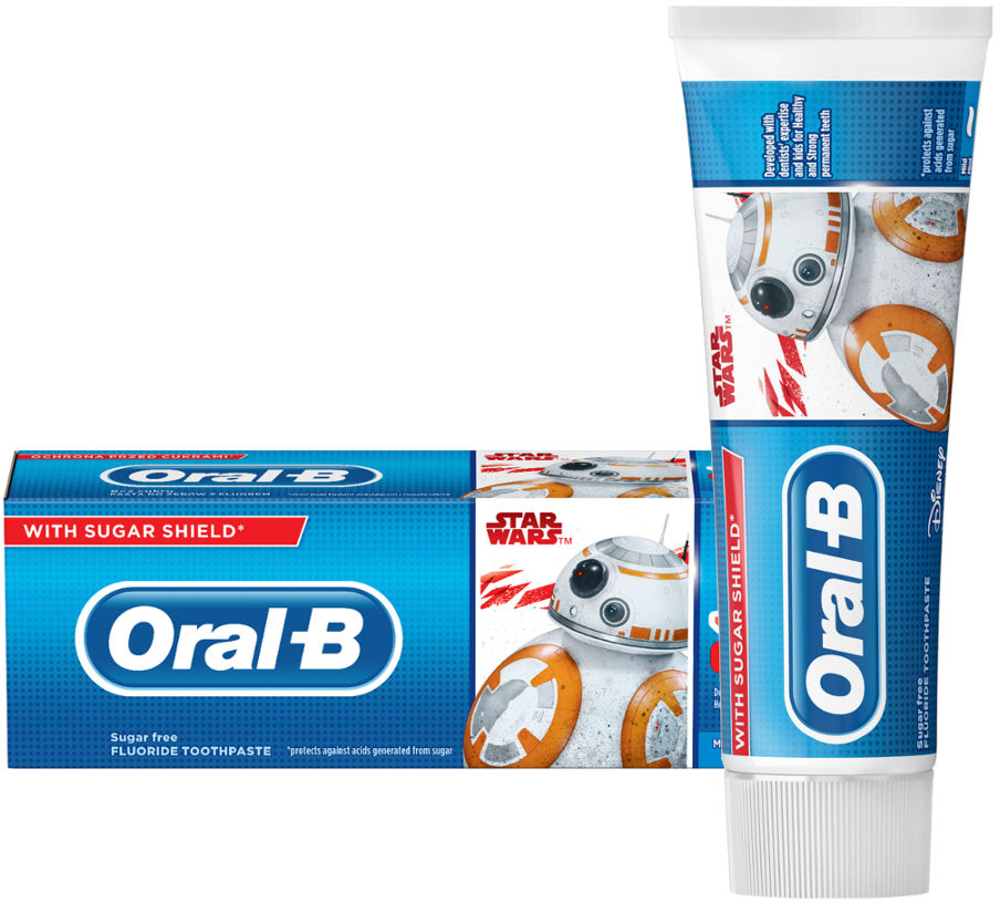 Oral-B JUNIOR 6+ STAR WARS 75ml - pasta do zębów z fluorem dla dzieci powyżej 6 lat