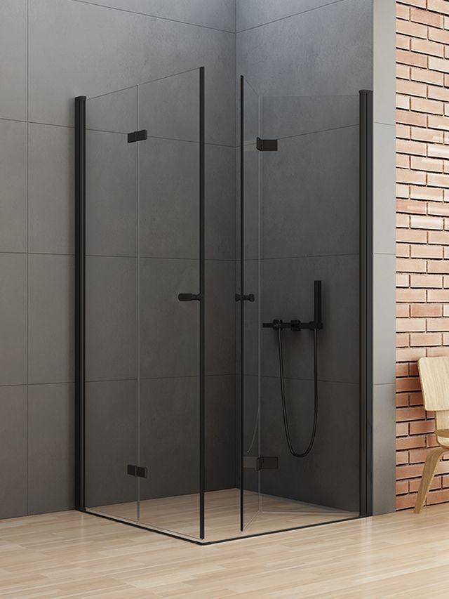 New Trendy New Soleo Black kabina kwadratowa 70 x 70 cm wys. 195 cm, szkło czyste 6 mm D-0233A/D-0237A