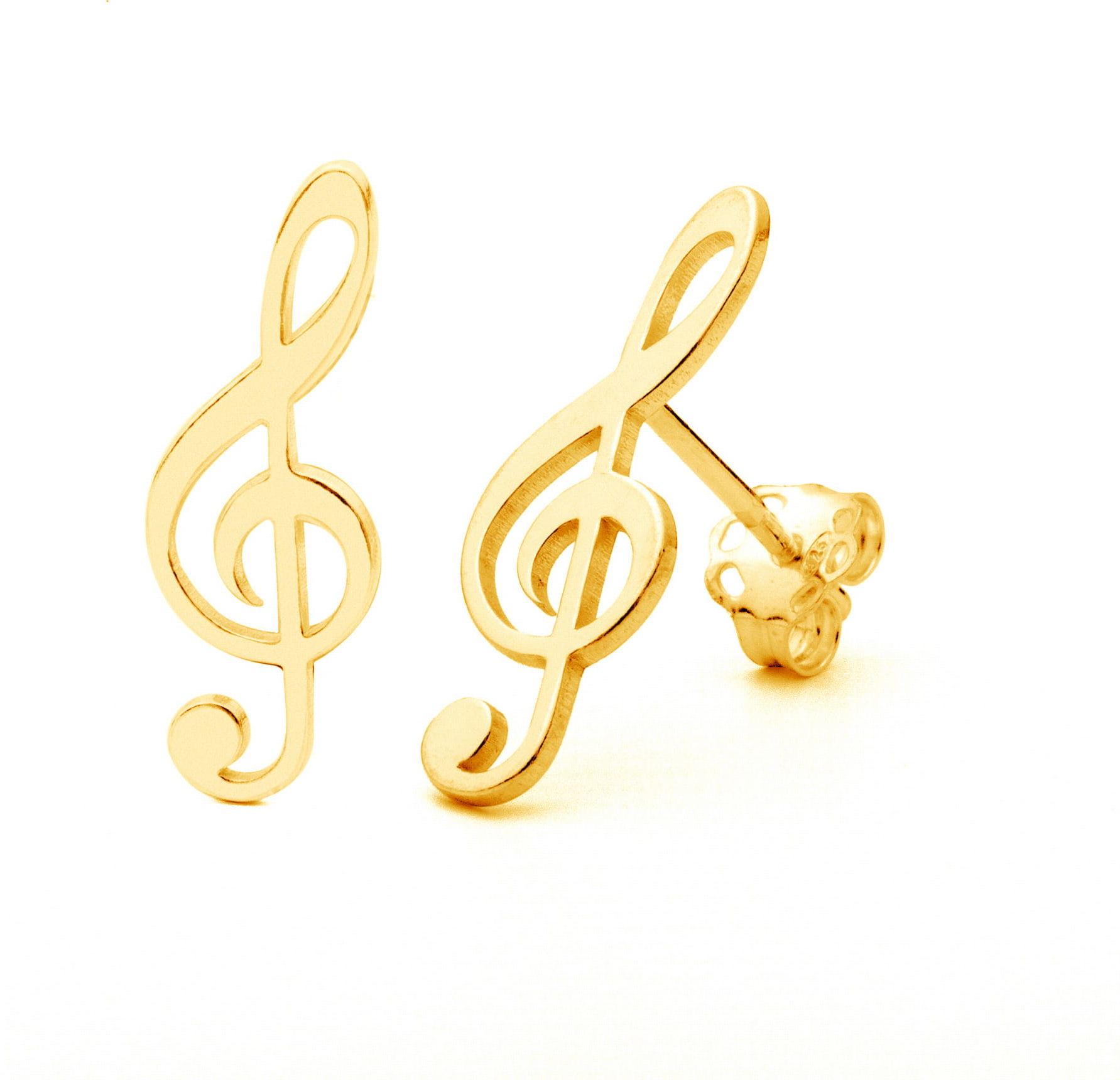 Kolczyki piny klucz wiolinowy