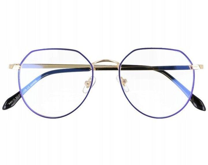 Okulary Lenonki z filtrem światła niebieskiego do komputera zerówki 2536-3