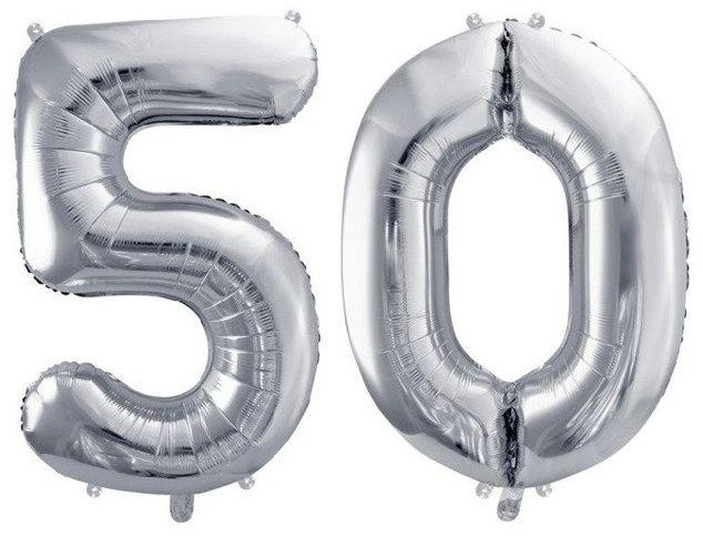 Balony foliowe 50 srebrne 86cm FB1M-50-018