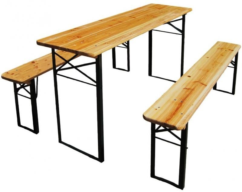 Zestaw biesiadny stolik + 2 ławki
