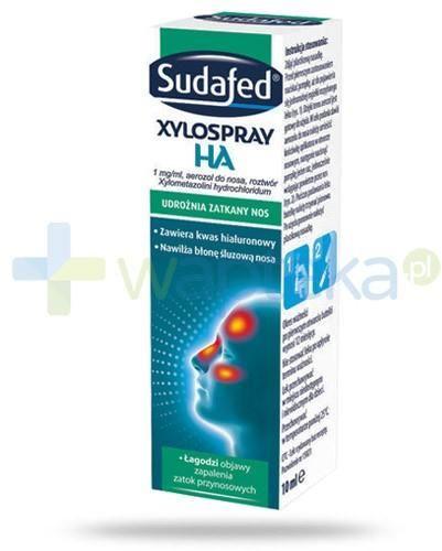 Sudafed Xylospray HA 1mg/ml udrażnia zatkany nos aerozol 10 ml