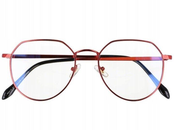 Okulary Lenonki z filtrem światła niebieskiego do komputera zerówki 2536-4