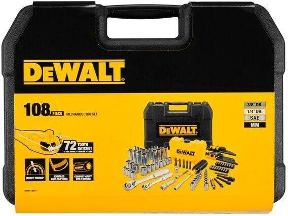 """Zestaw 108 szt. narzędzi z nasadkami 1/4"""" i 3/8"""" DeWALT [DWMT73801-1]"""