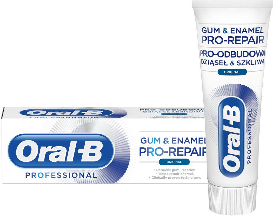 ORAL-B Gum&Enamel PRO-REPAIR Original 75ml - pasta do zębów odbudowa dziąseł i szkliwa