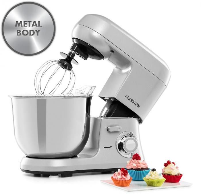 Klarstein Bella Robusta Metal, robot kuchenny, 1.200 W, 6 poziomów mocy, 5,5 l, szary