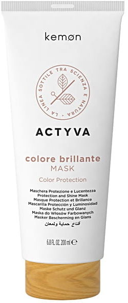 Kemon Actyva Colore Brillante Mask Maska Do Włosów Farbowanych 200ml