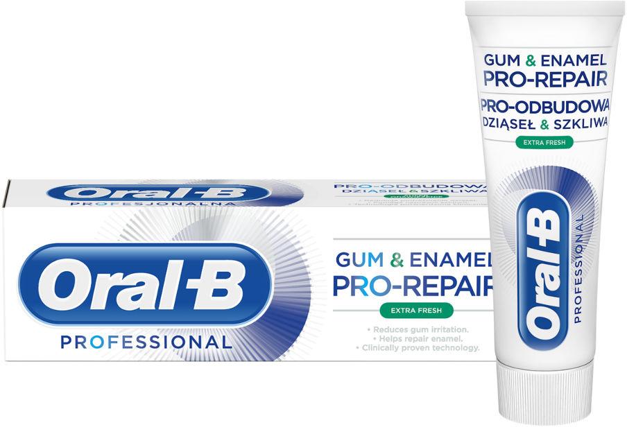 ORAL-B Gum&Enamel PRO-REPAIR Extra Fresh 75ml - odświeżająca pasta do zębów odbudowa dziąseł i szkliwa