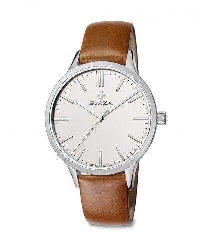 Zegarek damski STELLA, SST, white, brown WAT.0631.1004