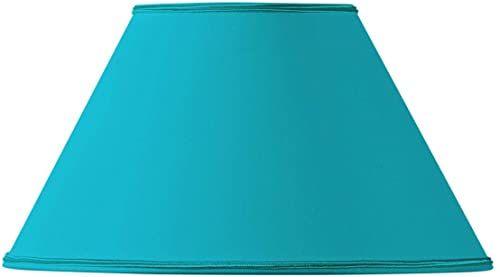 Klosz lampy, kształt wiktoriański, Ø 40 x 17 x 24 cm, turkusowy
