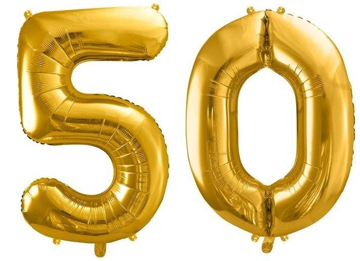 Balony foliowe 50 złote 86cm FB1M-50-019