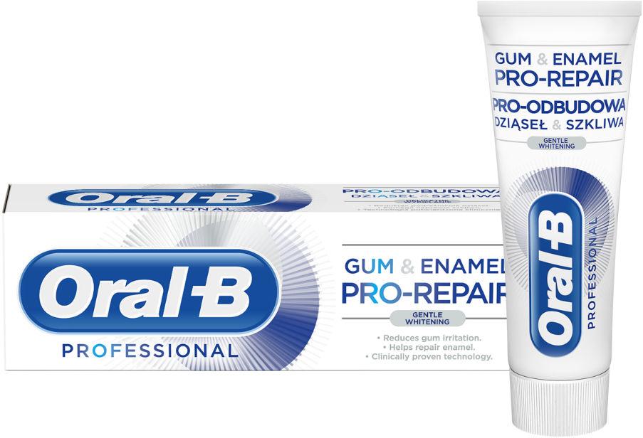 ORAL-B Gum&Enamel PRO-REPAIR Gentle Whitening 75ml - wybielająca pasta do zębów odbudowa dziąseł i szkliwa