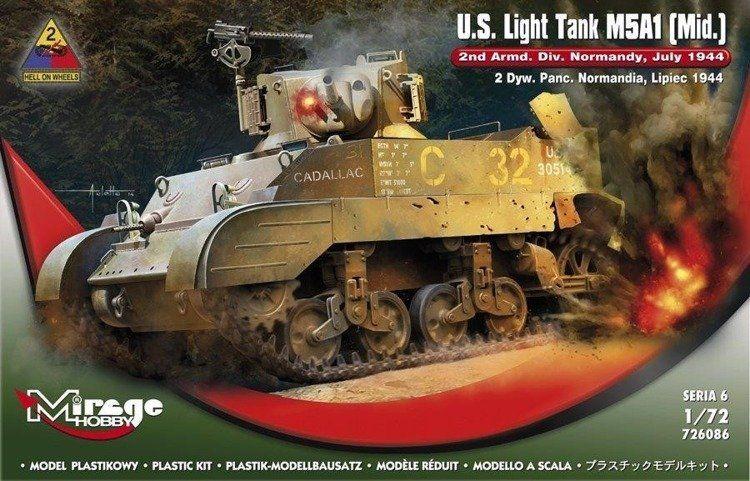 "Lekki Czołg ""M5A1"" Normandia - Mirage Hobby"