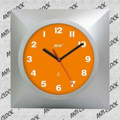 Zegar kwadrat chodzący do tyłu