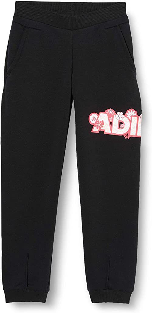 adidas Spodnie sportowe dla dziewcząt Lg Fleece Pnt czarny czarny 3-4 Lat