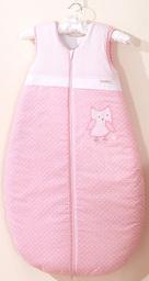 MAMO-TATO Śpiworek niemowlęcy do 18 m-ca haftowany Sówki uszatki różowe