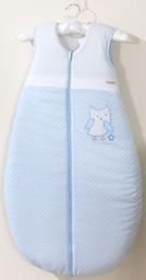 MAMO-TATO Śpiworek niemowlęcy do 18 m-ca haftowany Sówki uszatki błękitne