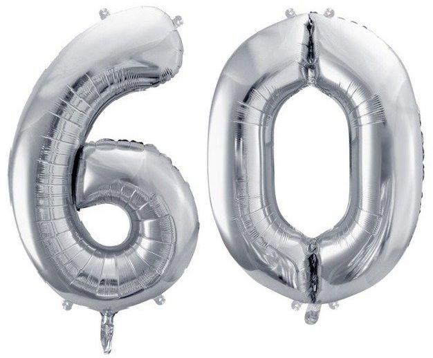 Balony foliowe 60 srebrne 86cm FB1M-60-018