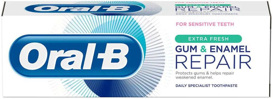 ORAL-B Gum&Enamel REPAIR ExtraFresh 75ml - odświeżająca pasta do zębów odbudowa dziąseł i szkliwa