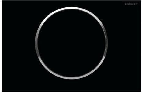 Sigma10 Geberit przycisk uruchamiający przedni do spłuczek podtynkowych UP320 - czarny/chrom błyszczący/czarny - 115.758.KM.5