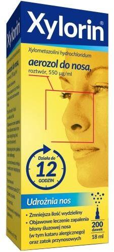Xylorin 0,55 mg/ml aerozol do nosa 18 ml