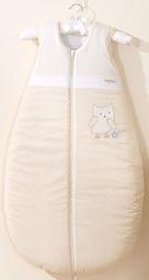 MAMO-TATO Śpiworek niemowlęcy do 18 m-ca haftowany Sówki uszatki biszkoptowe