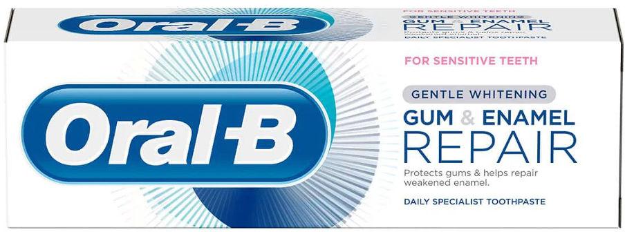 ORAL-B Gum&Enamel REPAIR Gentle Whitening 75ml - wybielająca pasta do zębów odbudowa dziąseł i szkliwa