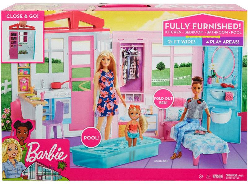 Barbie - Przytulny domek z wyposażeniem FXG54