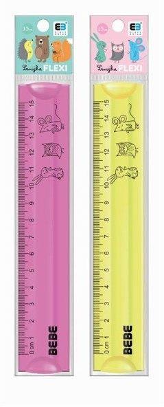 Linijka Flexi 15cm B&B Kids Pastel
