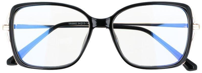 Okulary damskie z filtrem BLUE LIGHT do komputera zerówki 2544