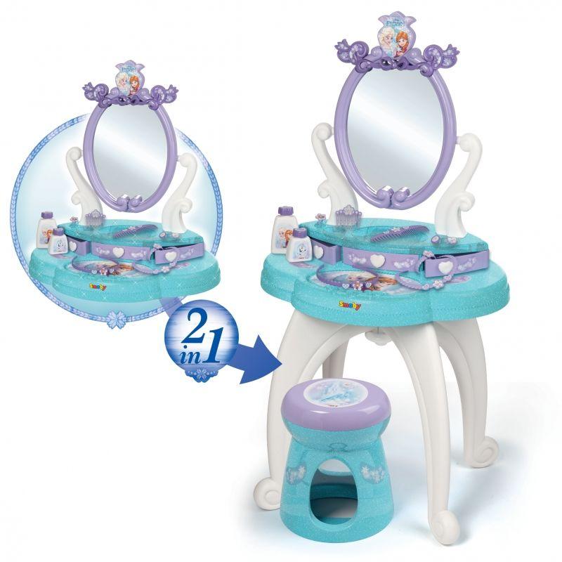 Smoby Toaletka Frozen 2 w 1 bezpieczne lustro Księżniczki taborecik LK